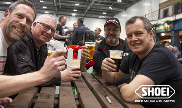 Join John McGuinness for a pint at the Carole Nash MCN London Motorcycle Show